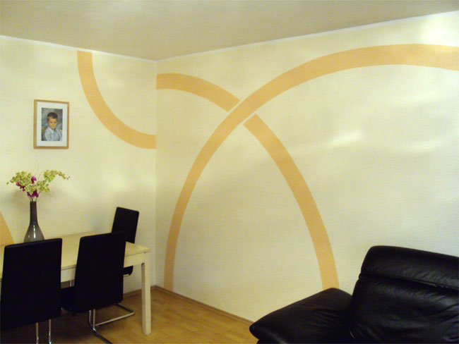 kreative gestaltung wohnzimmer durch wandtattoos kreieren